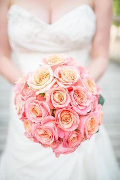 Bridal Bouquet of MIss Piggy Roses by PoZe Flowers
