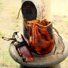 Beautiful Bushcraft Possibles Pouch by dog.breath