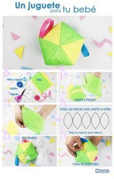 Tu pequeño necesita juguetes suaves que estimulen su tacto y favorezcan su desarrollo, ¿te gustaría hacer uno?