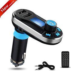 Kit de Voiture Bluetooth Lecteur Yokkao MP3 Transmetteur FM avec Micro, Appel Mains Libres Double USB Chargeur Allume-cigare Haut-parleur…