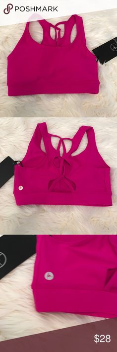 90 Degree by Reflx Magenta Sports Bra 90 Degree by Reflx Magenta Sports Bra.  Ladder back detail, gorgeous magenta color. Has removeable padding. 90 Degree by Reflex Intimates & Sleepwear Bras