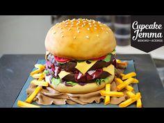 The Making of a Burger Cake!   Cupcake Jemma - YouTube