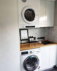 40 Extraordinary Laundry Room Decor Ideas For Small Spaces Fantastic laundry room storage diy shelves info is offered on our website. Read more and you will not be sorry you did Laundry Shelves, Laundry Room Cabinets, Laundry Room Organization, Laundry In Bathroom, Small Shelves, Organization Ideas, Storage Ideas, Diy Cabinets, Modern Cabinets
