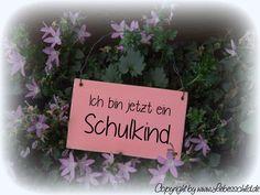 Tür- & Namensschilder - Mini- Schild > Ich bin jetzt Schulkind <  - ein Designerstück von Liebesschild bei DaWanda