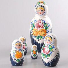 Roses Shawl Russian Nesting Dolls