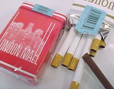 Cigarettes en chocolat - I remember those and the chewing gum ones. SO WRONG.