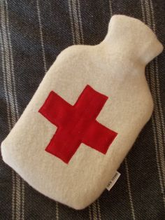 Red Cross Hottie Cover by oxscross on Etsy, $22.00