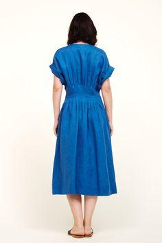 Sea Coraline Pleated Dress - Blue 6