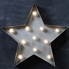 Star Marquee Lighting | Vintage Marquee Lighting | Star Wall Light