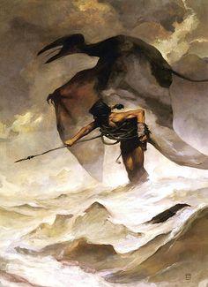 Edgar Rice Burroughs' Back to the Stone Age cover art by Jeff Jones Frank Frazetta, Fantasy Paintings, Fantasy Artwork, Jeff Jones, John Howe, Sword And Sorcery, Guache, Stone Age, Fantasy Illustration