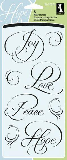 Inkadinkado ~ Calligraphy Expressions ~ Joy, Love, Peace and Hope ~ NIP #Inkadinkado