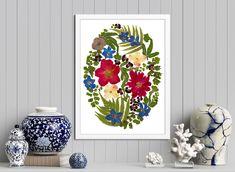 Peony, Rose, Fern, Giclée Print, Framed Flowers Poster Flower Frame, Flower Art, New Homeowner Gift, Peony Rose, Floral Wall Art, Butterfly Art, Poster Making, Diy Wall Decor, Botanical Prints