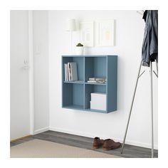 EKET Skap med 4 hyller - lys blå - IKEA