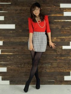 Nylons, Beautiful Japanese Girl, Black Stockings, Nice Legs, Cute Asian Girls, Tights, Cute Outfits, Mini Skirts, Feminine