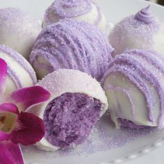 * How to make Lavender Cake Balls. I will try green and red for Christmas time!! Maybe orange for Thanksgiving!