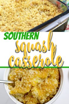 Southern Squash Casserole is a favorite at every gathering. With grated Cheddar cheese, crumbled Ritz crackers, and fresh summer squash, this squash casserole is a great way to use those summer vegetables! Easy Casserole Recipes, Potluck Recipes, Side Dish Recipes, Vegetable Recipes, Spring Recipes, Salad Recipes, Squash Zucchini Recipes, Yellow Squash Recipes, Southern Squash Casserole