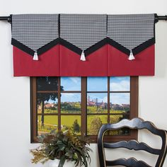 Design Your Valance Houndstooth 3-Panel Valance - Overstock™ Shopping - Great Deals on Valances