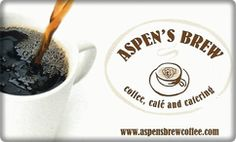 "Aspen's Brew - ""a wide variety of coffee styles to pair with your bagel and free wifi"""