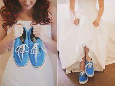 Something Blue | Vans for Wedding Shoes | Brett & Kat – Gold Coast Wedding » Sophie Baker Photography | Tamborine Mountain Photographer