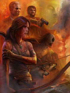 Love everything in this artwork! (Tomb Raider - Contest Entry by *stevegoad on deviantART)