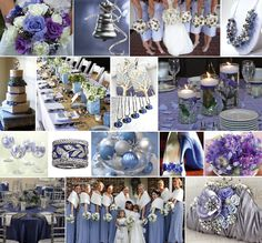 Periwinkle & Silver http://www.marketplaceweddings.com/blog/picking-your-wedding-colors/
