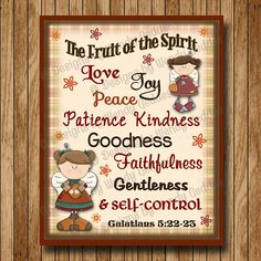 Printable - Fruit of the Spirit Scripture printable 8x10 Graphic art - printable wall art