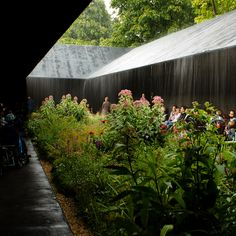Peter Zumthor Serpentine Pavilion in the rain