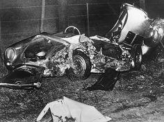The Wrecked Remains Of James Dean S Porsche 550 Spyder