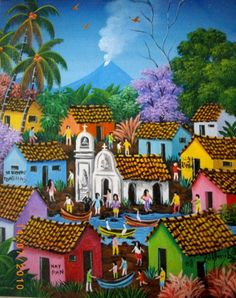 My People: William Gonzalez. Latino Artists, African Artists, Art Haïtien, Folk, Galerie D'art, Naive Art, Art Images, Wood Art, Art Drawings