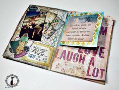 Tutorial Album Cuaderno MixedMedia Cinderella, página 4 : http://cinderellatmidnight.com/2014/10/17/4a-parte-tutorial-album-cuaderno-mixedmedia-estilo-cinderella-paginas-4-y-5/
