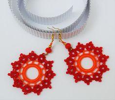 Crochet earrings Crochet jewelry Fashion crochet by lindapaula