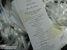 Mixed Bunch Wedding - Program by CLOcards - Cards and Paper Crafts at Splitcoaststampers