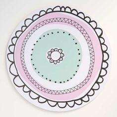 Aura-kakkualusta vaaleanpunainen, iso | Aura cake plate, pink | www.käpynen.fi