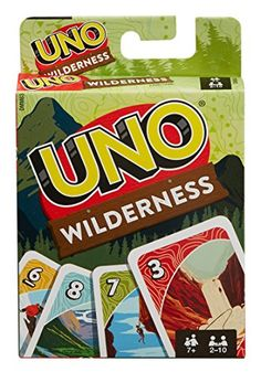 The UNO Wilderness Game plays like the traditional version, matching colors and numbers, but is extra fun featuring images with wilderness themes!
