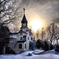 Brother Andre's chapel, later Saint Andre. A million people filed past his coffin when he died. by Matthew Burpee, via Flickr