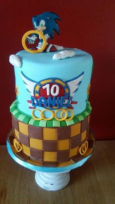 Sonic cake - Cake by Despoina Karasavvidou-Osuala