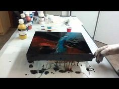 How to mix resin and coat a painting - YouTube