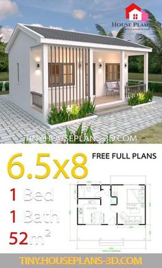 Small House Decorating, Small House Design, Best Front Doors, House Construction Plan, Sims House, Small House Plans, One Bedroom House Plans, Home Design Plans, House Layouts