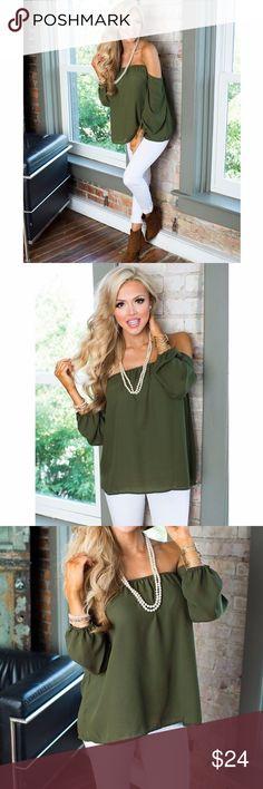 Long Sleeve Off the Shoulder Blouse Long Sleeve Off the Shoulder Blouse. Size Medium Tops Blouses