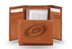 Carolina Hurricanes Embossed Leather Trifold/Wallet