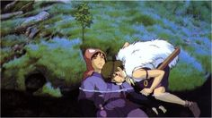 Ashitaka and San- Princess Mononoke