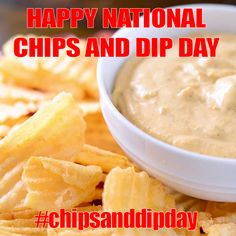March 2014 - National Chips and Dip Day Special Day, Cantaloupe, Dips, March, Fruit, Food, Sauces, Meal, Dipping Sauces