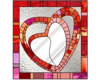 Heart mosaic stained glass mirror stained glass hearts for mosaic mirror [0]$2.00 | PDQ Patterns