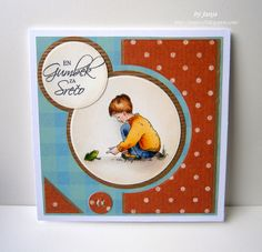 Jayne Nestorenko - boy & frog Kids Cards, Tree Branches, Art Pieces, Frame, Flowers, How To Make, Crafts, Inspiration, Sweet Tooth