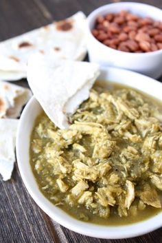 Slow Cooker Chicken Chile Verde from www.twopeasandtheirpod.com #recipe #crockpot