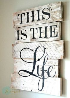 """""""This is the Life"""" wood sign {customizable} - Aimee Weaver Designs, LLC"""