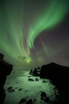 Iceland | Flickr - Photo Sharing! Northern lights. Northern lights reflecting off the water.