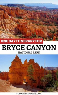Bryce Canyon is one of 5 National Parks to put on your Utah bucket list. Plan your trip to Bryce Canyon with this 1-day itinerary at the national park. Bryce is famous for the views of the hoodoos rock formations, amphitheater, and incredibe hiking in the hoodoos. Sunrises and sunsets are magical at Bryce Canyon. Find places to stay near Bryce Canyon, where to eat near Bryce Canyon and fun things to do at Bryce Canyon National Park in Utah. #brycecanyon #nationalparks #utahparks #bucketlist Bryce National Park, Capitol Reef National Park, Us National Parks, Road Trip To Colorado, Colorado Hiking, Summer Vacation Spots, Vacation Ideas, Utah Parks, Bryce Canyon