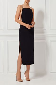 ALESSANDRA SILK DRESS EBONY - New Arrivals - Shop