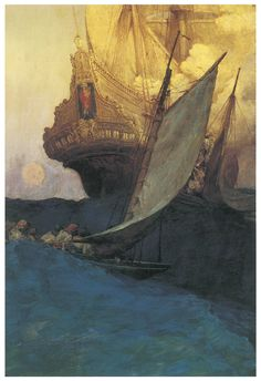 Howard Pyle An Attack on a Galleon 1903